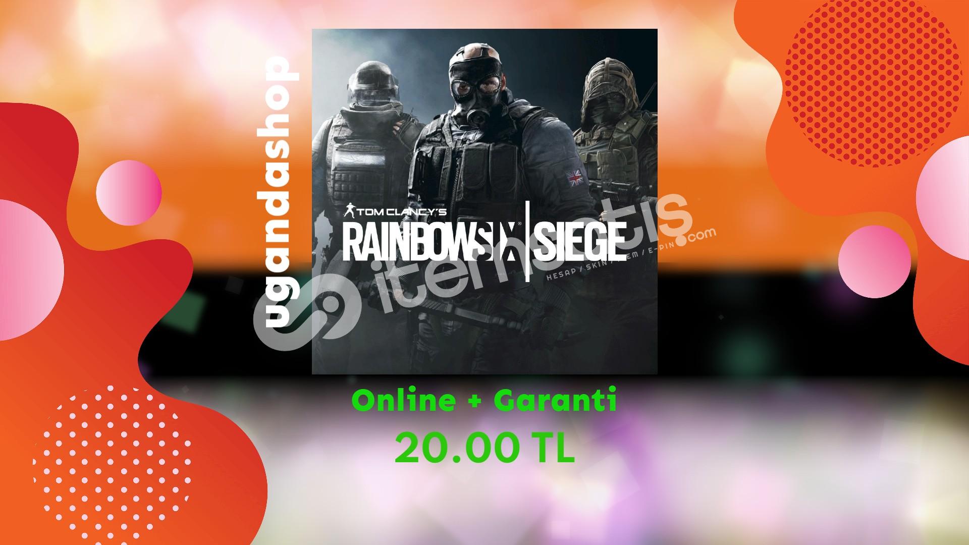 Rainbow Six Siege Online Uplay/Ubisoft Hesap + Garanti