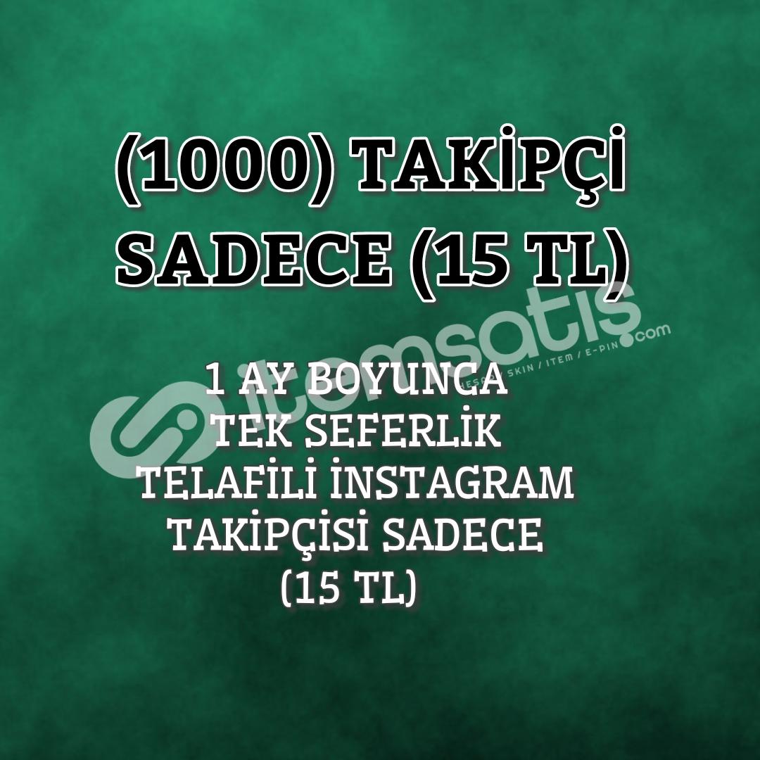 1 AY GARANTİLİ 1000 İNSTAGRAM TAKİPÇİSİ SADECE 15TL