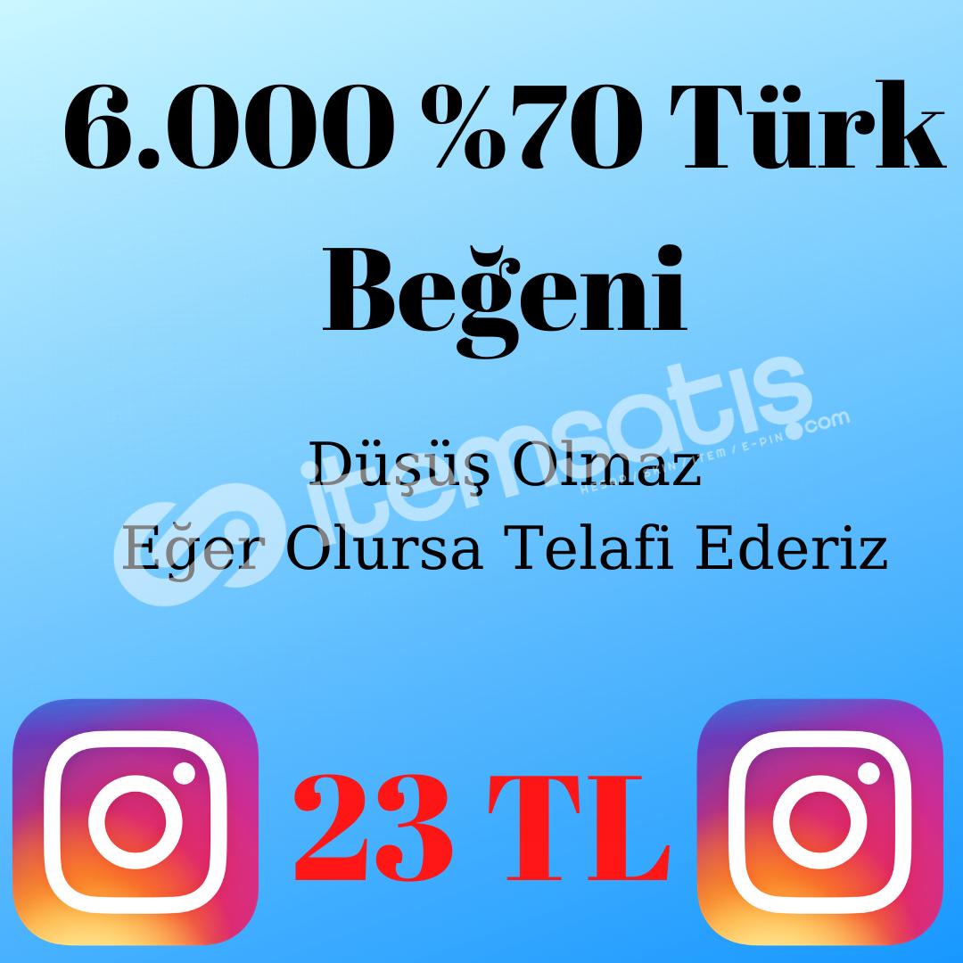 6.000 Türk Kullanıcı Beğenisi (%70 Türk) 23 TL