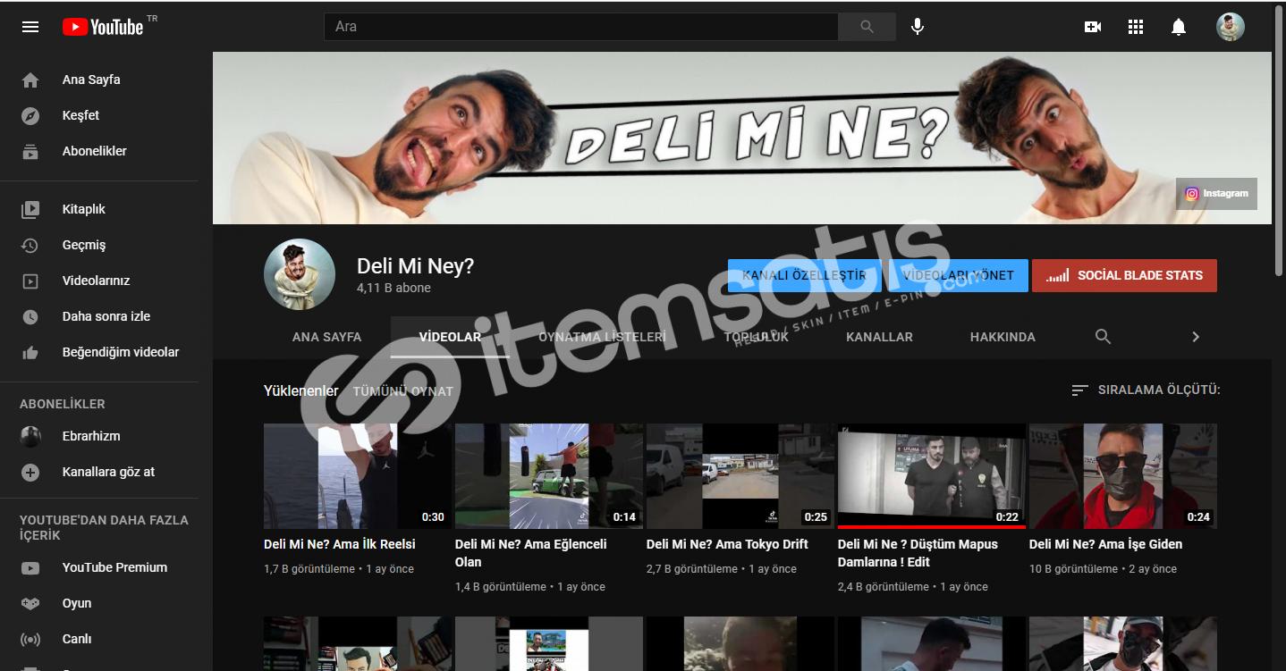 4.1K Aboneli PK Kapalı Youtube Kanalı