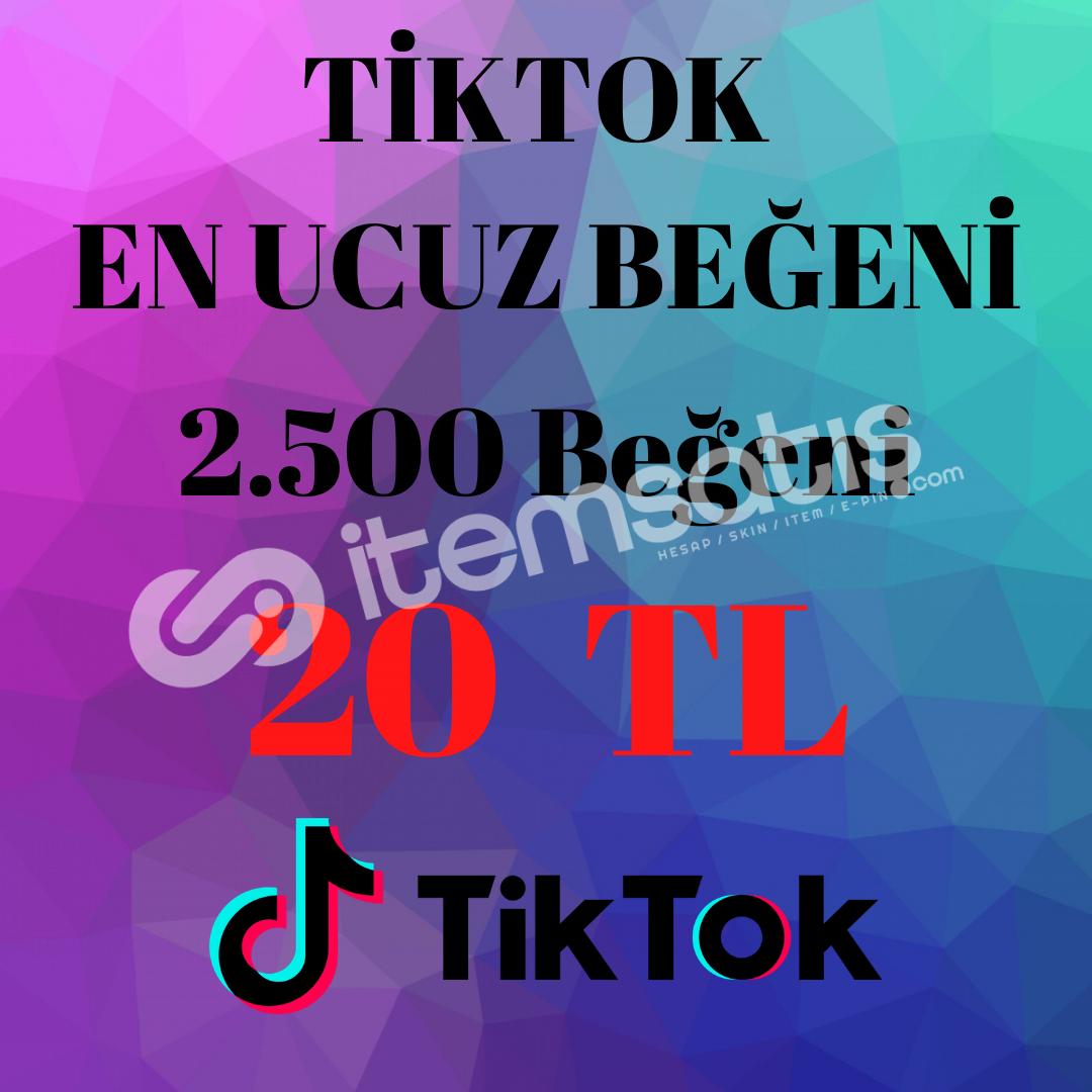 TikTok Beğenisi 2500 Beğeni 20 TL