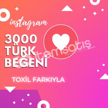 3000 [%100 Türk] Beğeni Paketi