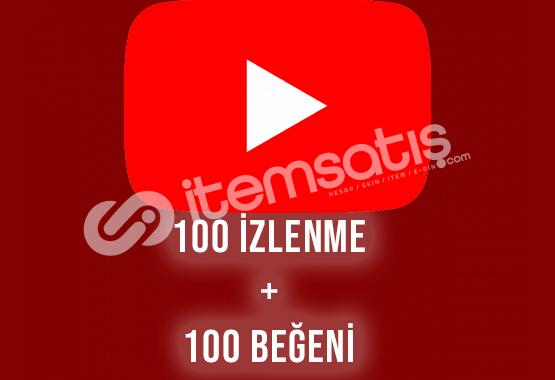 100 Beğeni + 100 İzlenme GERÇEK TÜRK Maksimum 1 Gün