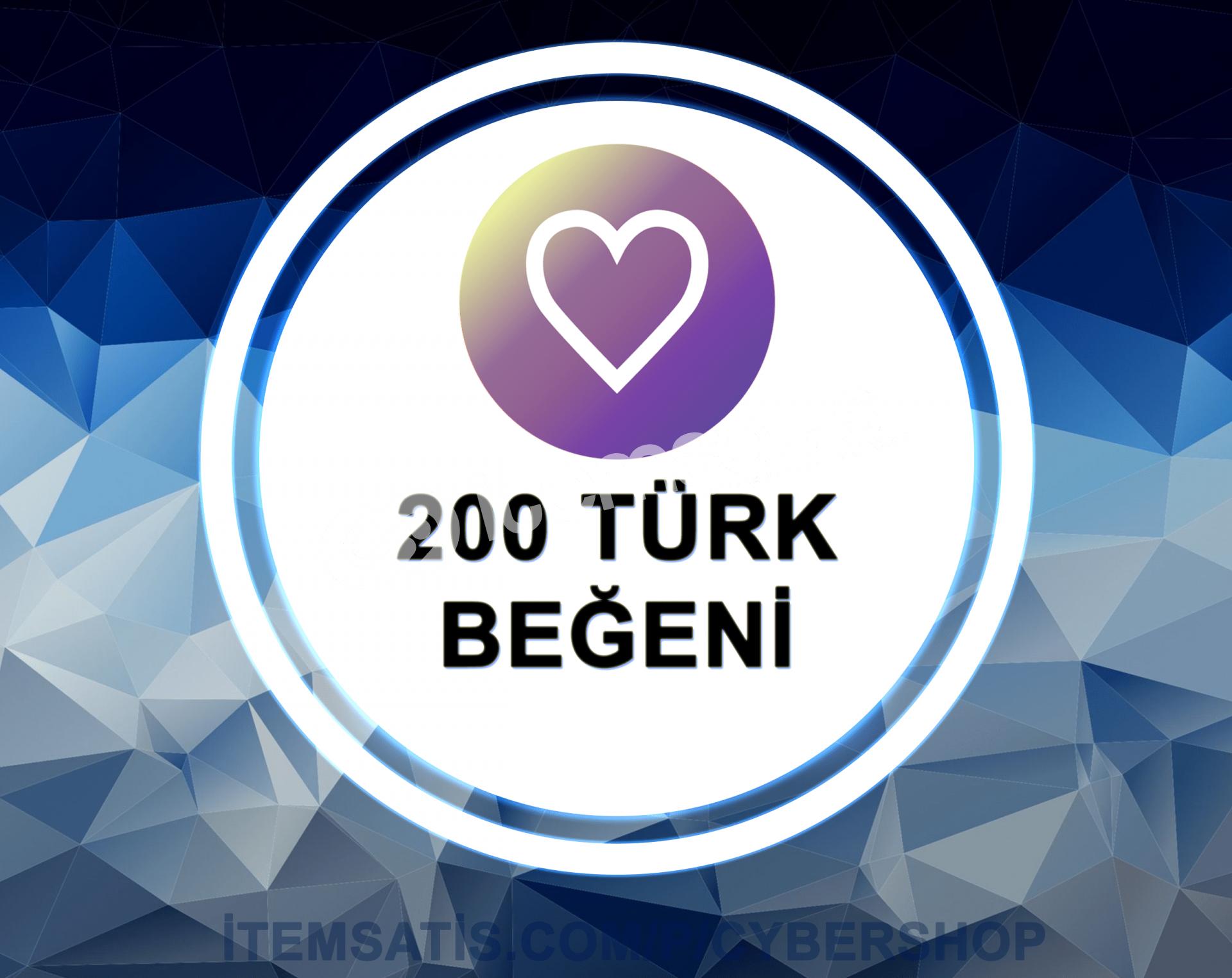 200 [TÜRK] Beğeni Paketi