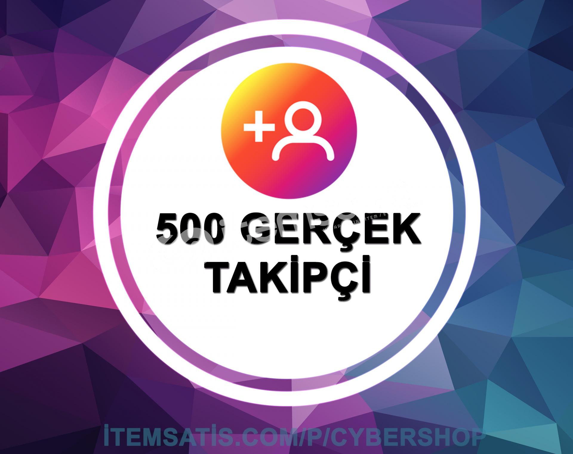 500 İnstagram [100% TÜRK] Takipçi Paketi