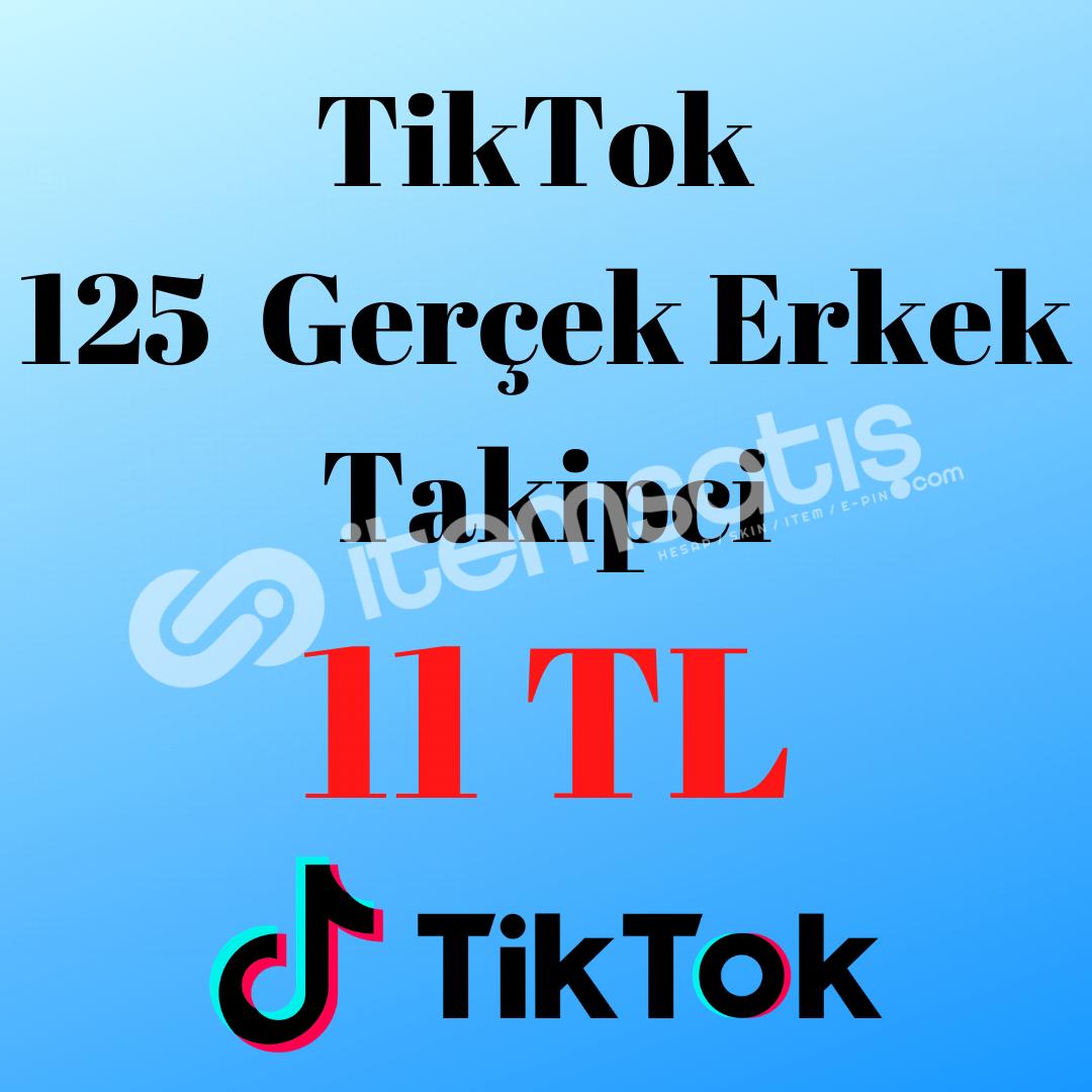 TİKTOK 125 GERÇEK ERKEK TAKİPCİ (AÇIKLAMAYI OKUYUNUZ)
