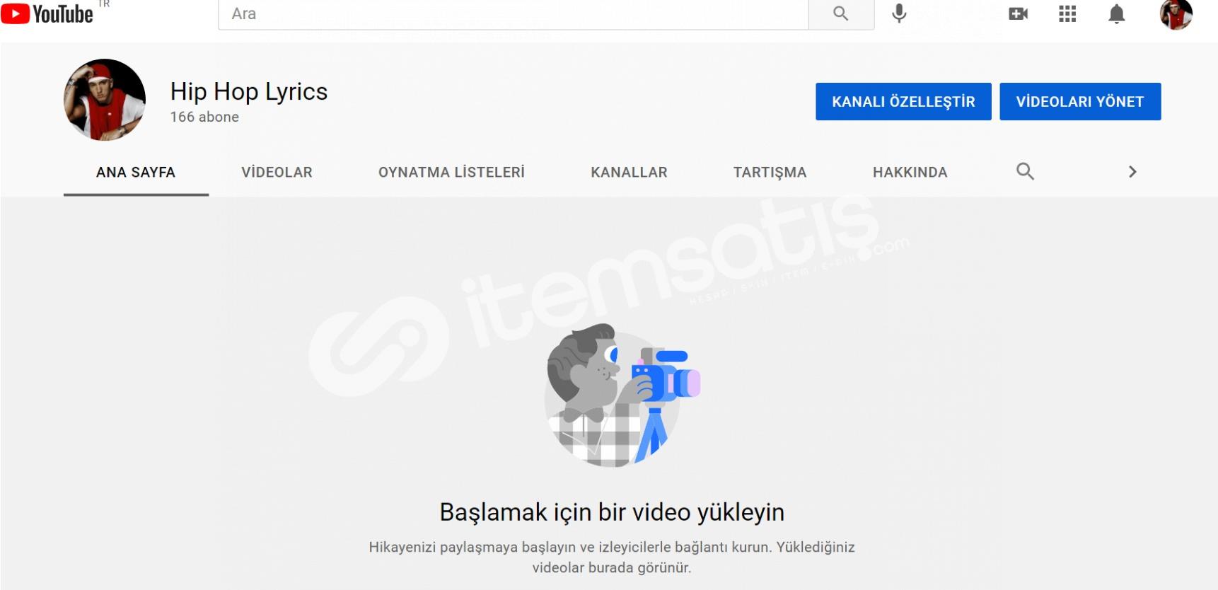 166 aboneli youtube hesabı