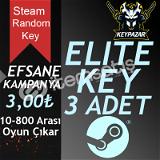 Steam Random Key ELİTE 3 ADET (OTOMATİK TESLİM) HEDİYELİ!