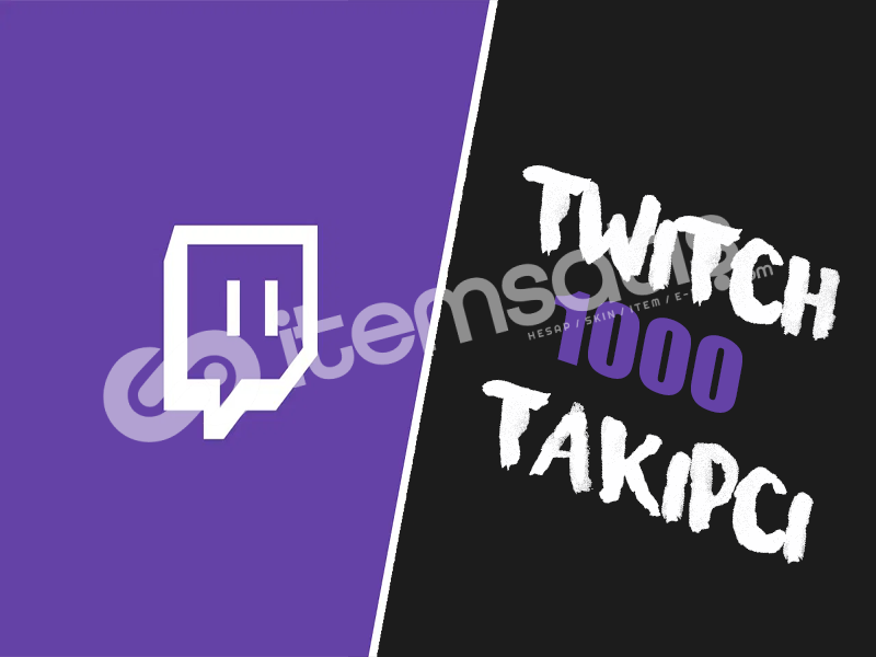 Twitch 1000 Takipçi Paketi