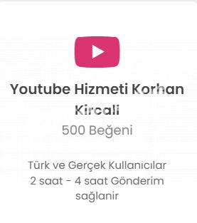 Youtube 500 Like 25 TL Düşmelere Karşı Telafi!