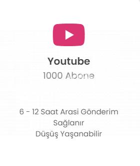 Youtube 1000 Abone 119 TL Düşmelere Karşı Telafi!