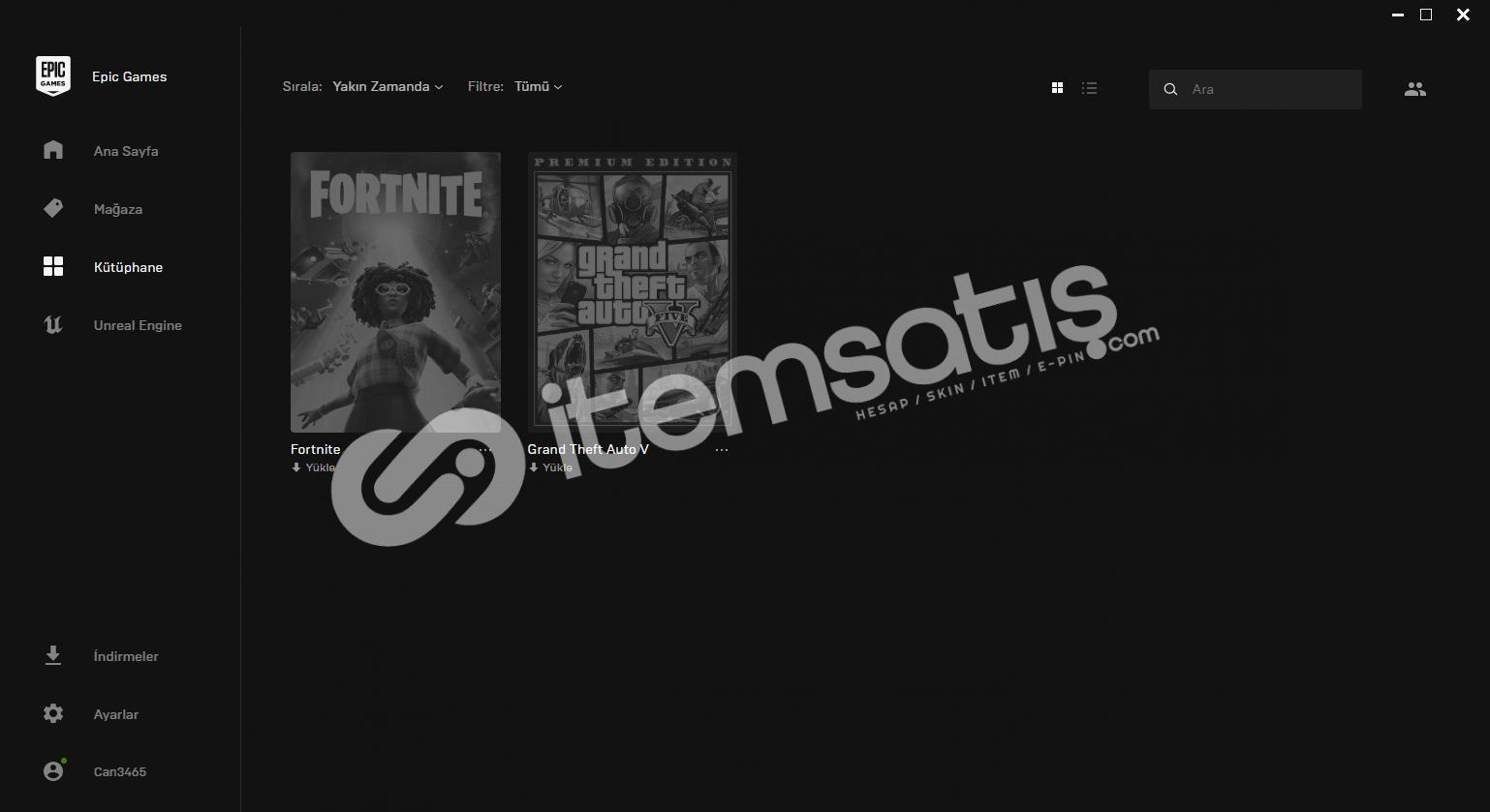 GTA V olan Epic Games Hesabı Satılık!