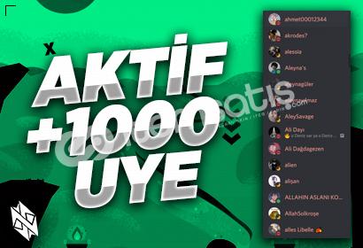 Discord 7/24 Aktif +1000 Üye!