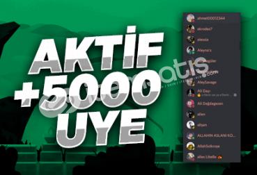 Discord 7/24 Aktif +5000 Üye!