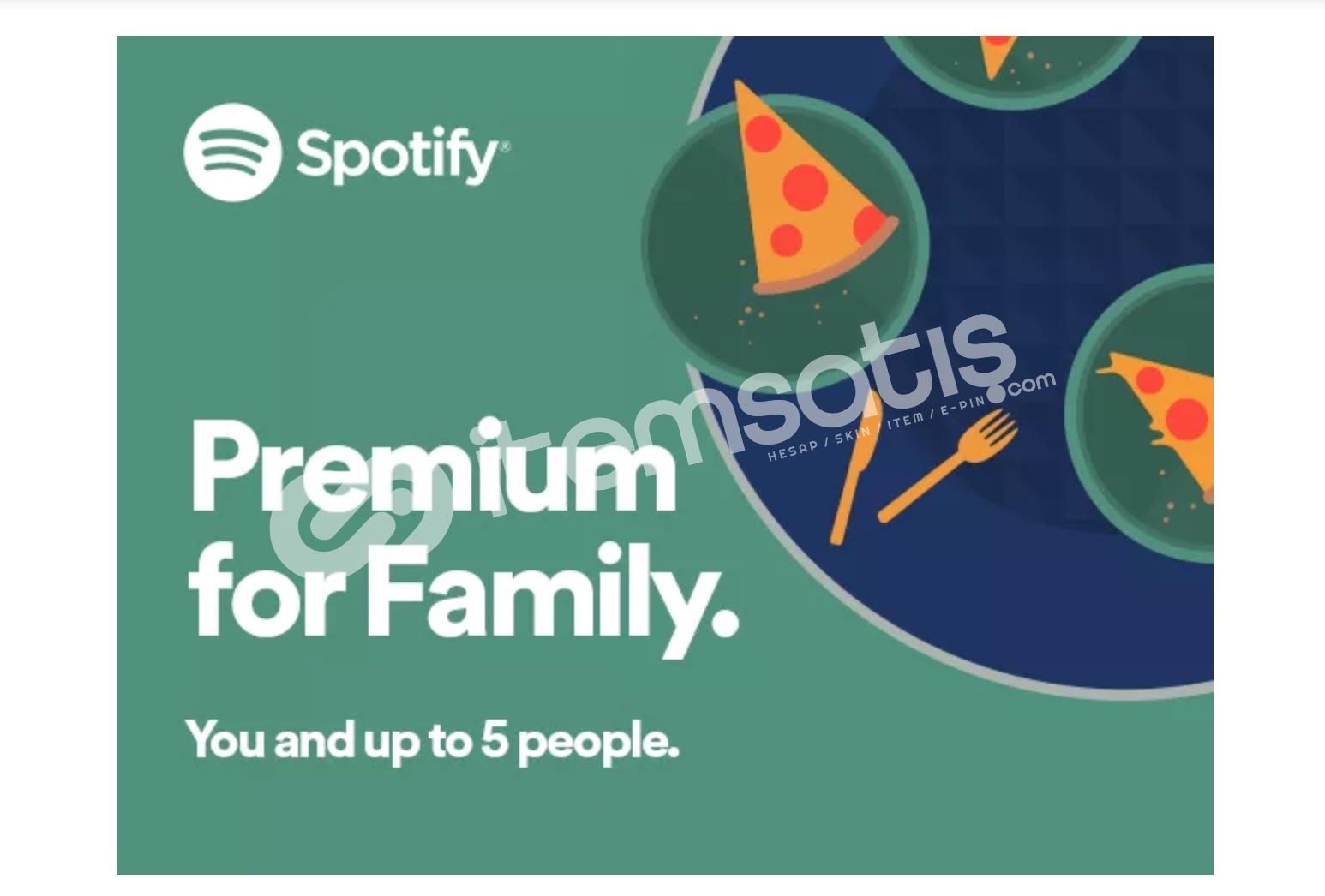 Spotify Aile Premium Hesap 6 Kişilik