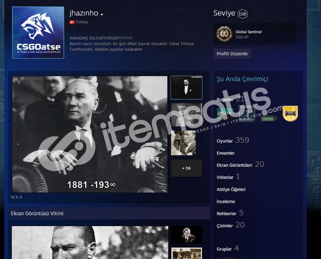 steam hesabı 360 oyun 220 dlc 106 lvl