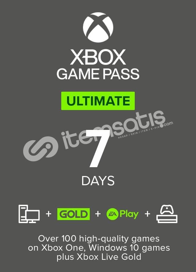 Xbox Game Pass Ultimate 7 Gün Otomatik Teslimat