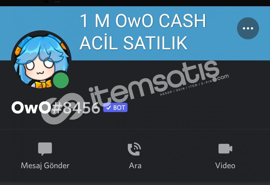 1 M OwO CASH ACİL PİYASA ALTI HEMEN TESLİM