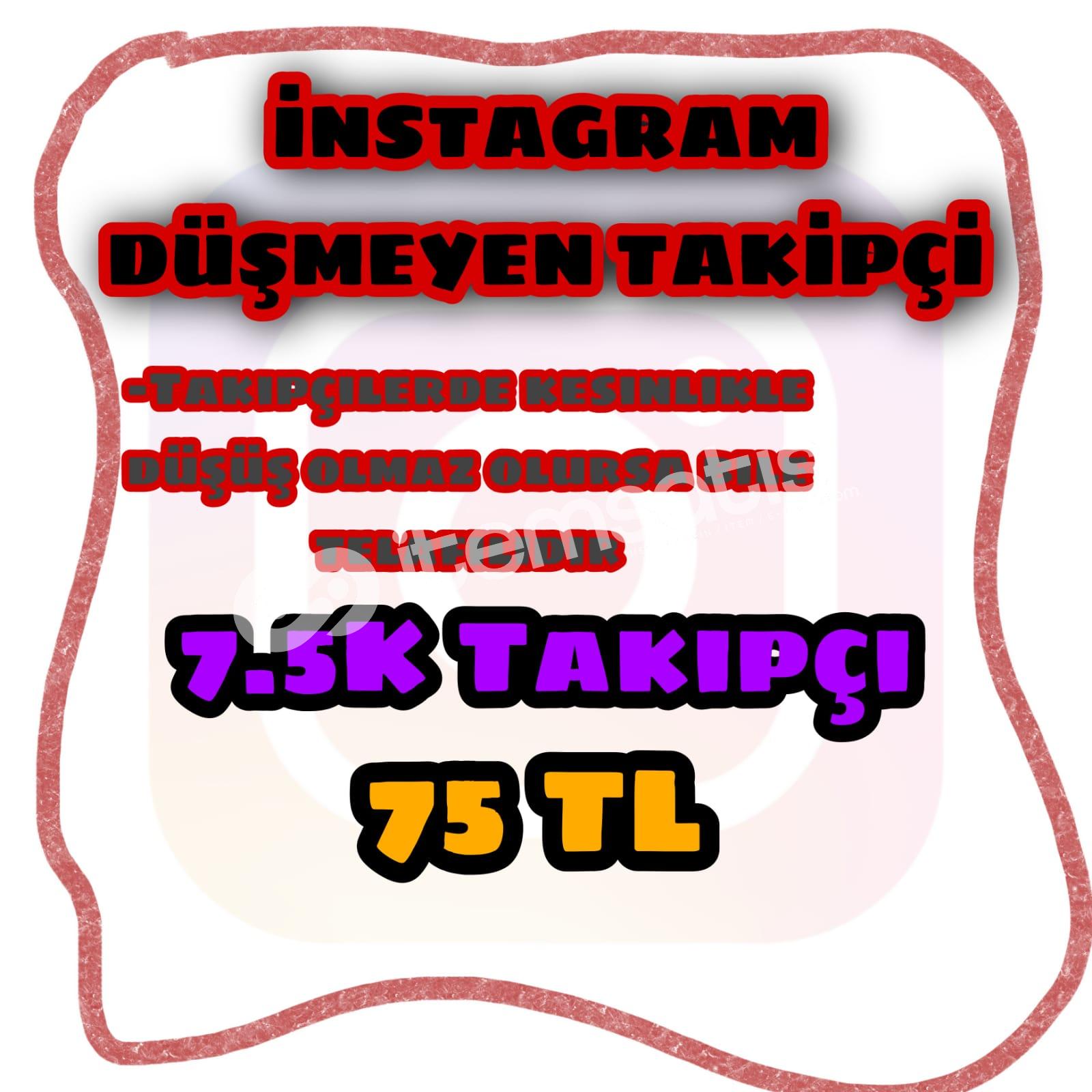 İnstegram 7.5K takipçi