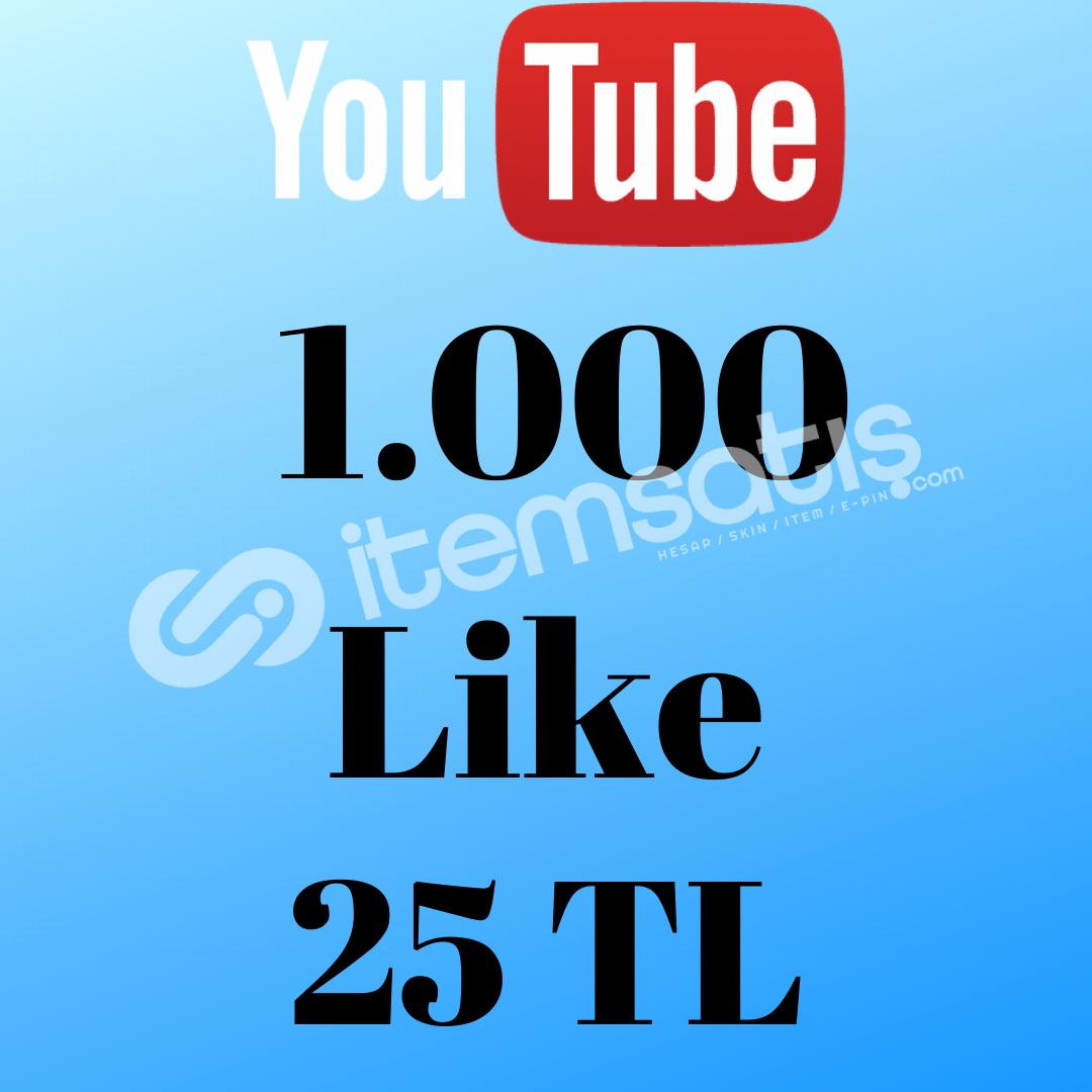 YOUTUBE 1.000 LİKE 25 TL