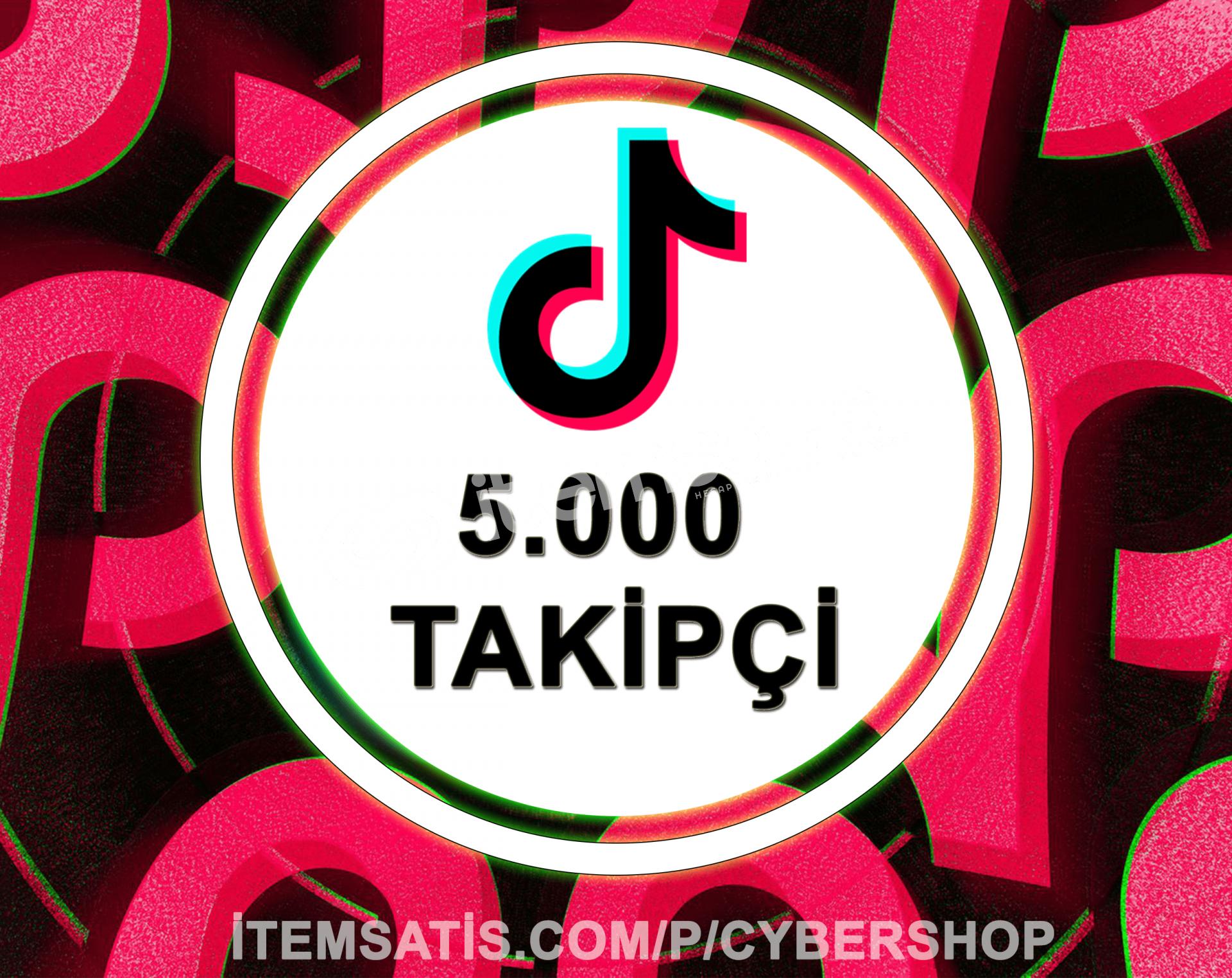 TikTok 5000 Takipçi Paketi (Anlık Gönderim)