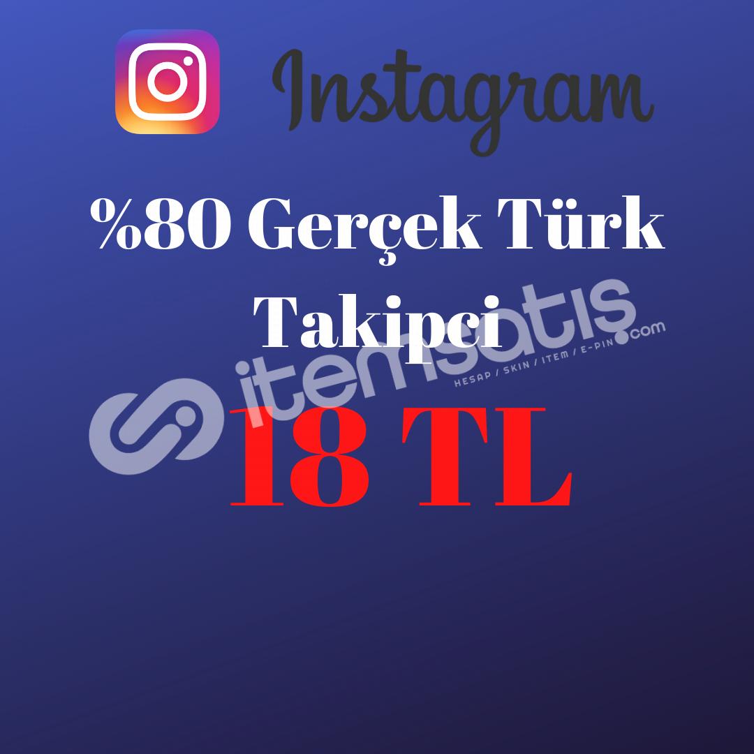 %80 Türk Takipci 18 TL (BOT DEĞİL GERÇEK KULLANICI)