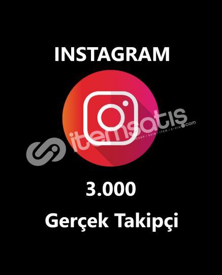 3.000 GERÇEK TAKİPÇİ