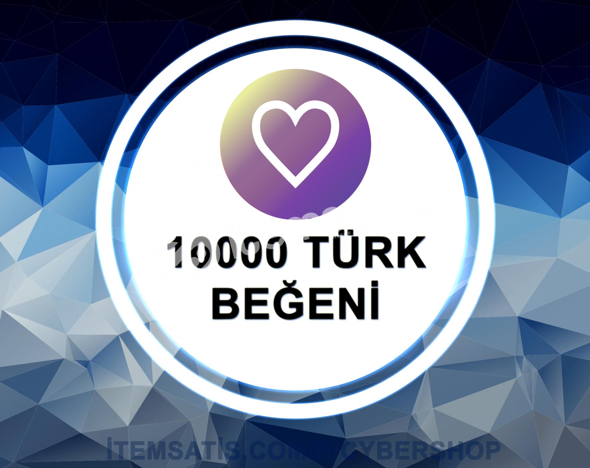 10.000 [TÜRK] Beğeni Paketi (Anlık Gönderim)