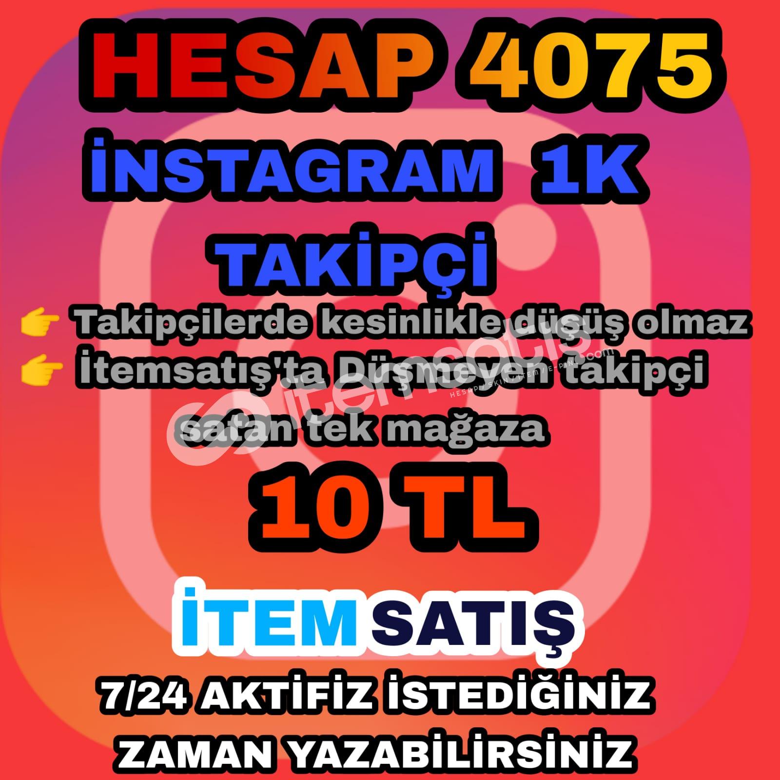 İnstegram 1K takipçi