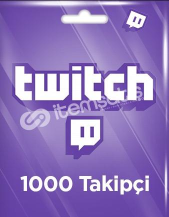 TWITCH +1000 TAKİPÇİ (İSTEK ÜZERİNE ARTAR)