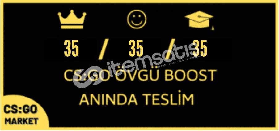 105 ADET ÖVGÜ BOOST ! +STEAM GOLD KEY !