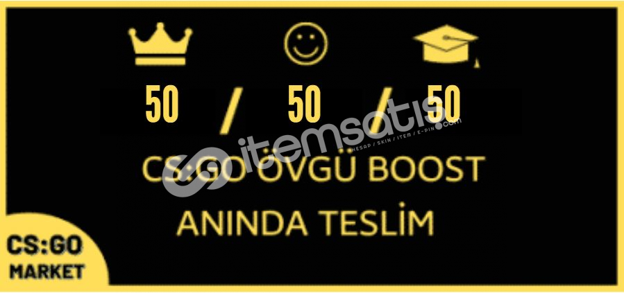 150 ADET ÖVGÜ BOOST ! +STEAM GOLD KEY !