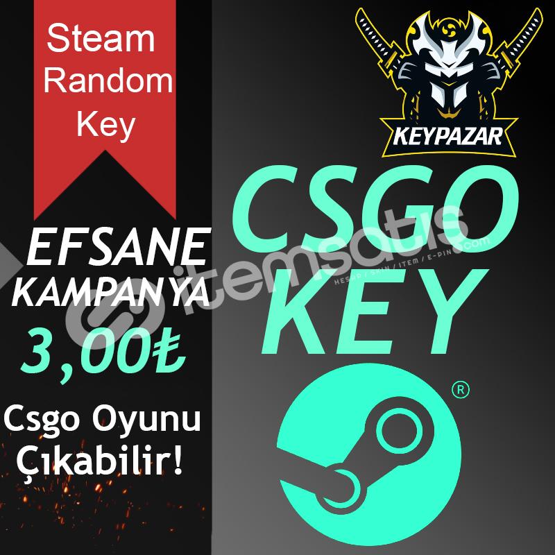 Steam Random Key CSGO ÇIKABİLİR ÖZEL KEY HEDİYELİ!