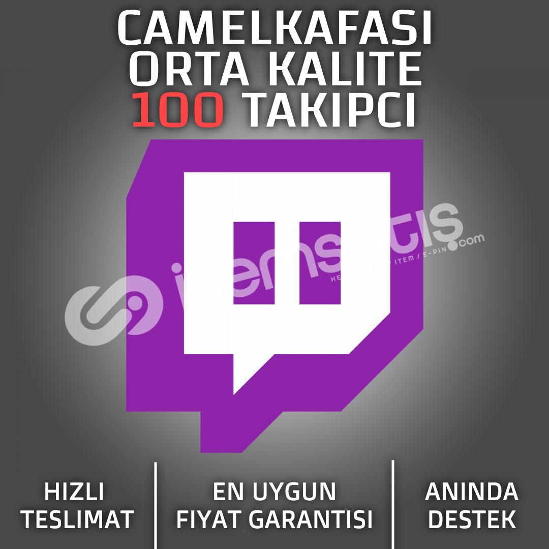 Twitch 100 Takipçi (Orta Kalite)