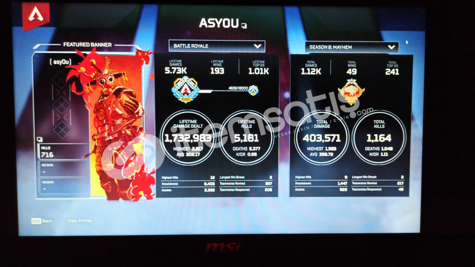 2200 TL LİK 2 heirloomlu 500 level hesap !!!