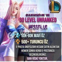 TR - FRESH UNRANKED - 30 LVL - BAN RİSKİ YOK