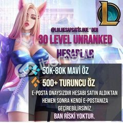 EU WEST - FRESH UNRANKED - 30 LVL - BAN RİSKİ YOK