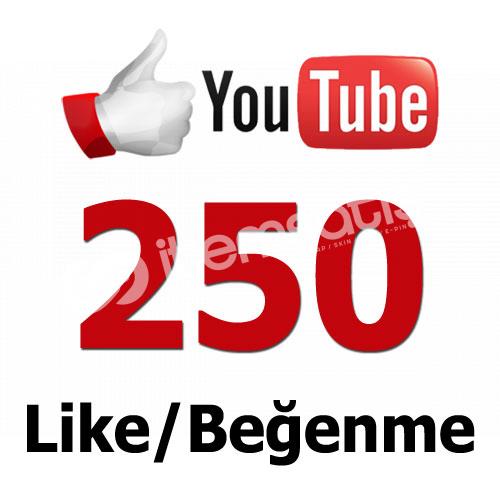 YouTube 250 Like/Beğeni