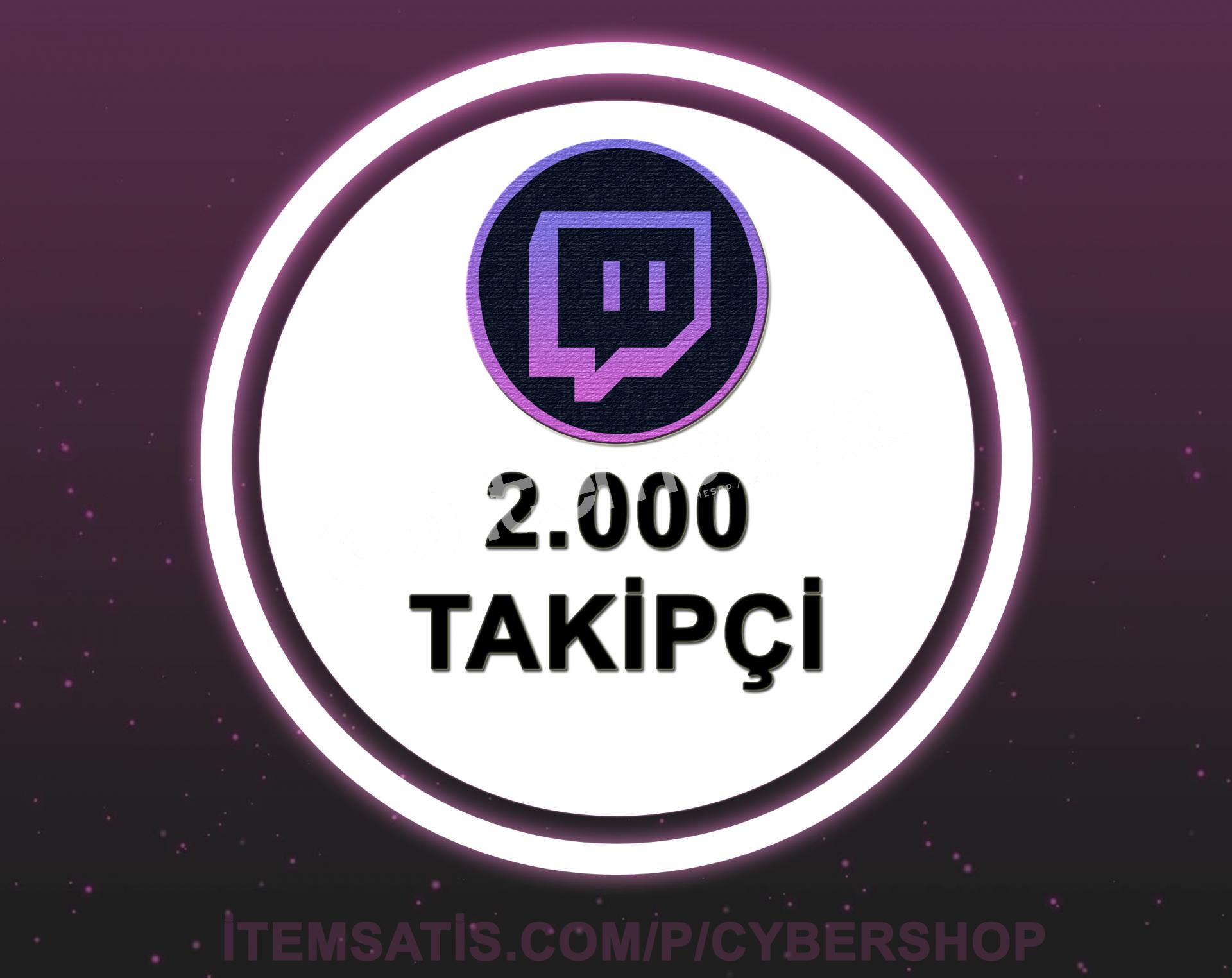 Twitch 2000 Takipçi (30 Gün Garantili + Hızlı Teslimat)