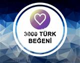 3.000 [TÜRK] Beğeni Paketi (Anlık Gönderim)