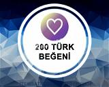 200 [TÜRK] Beğeni Paketi (Anlık Gönderim)