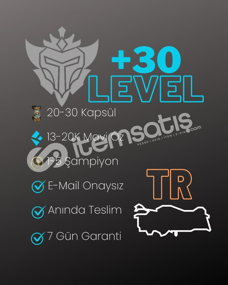 TR +30 LVL 20-30 KAPSÜL UNRANKED HESAP