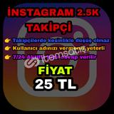 Instagram 2.5K takipçi