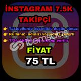 Instagram 7.5K takipçi