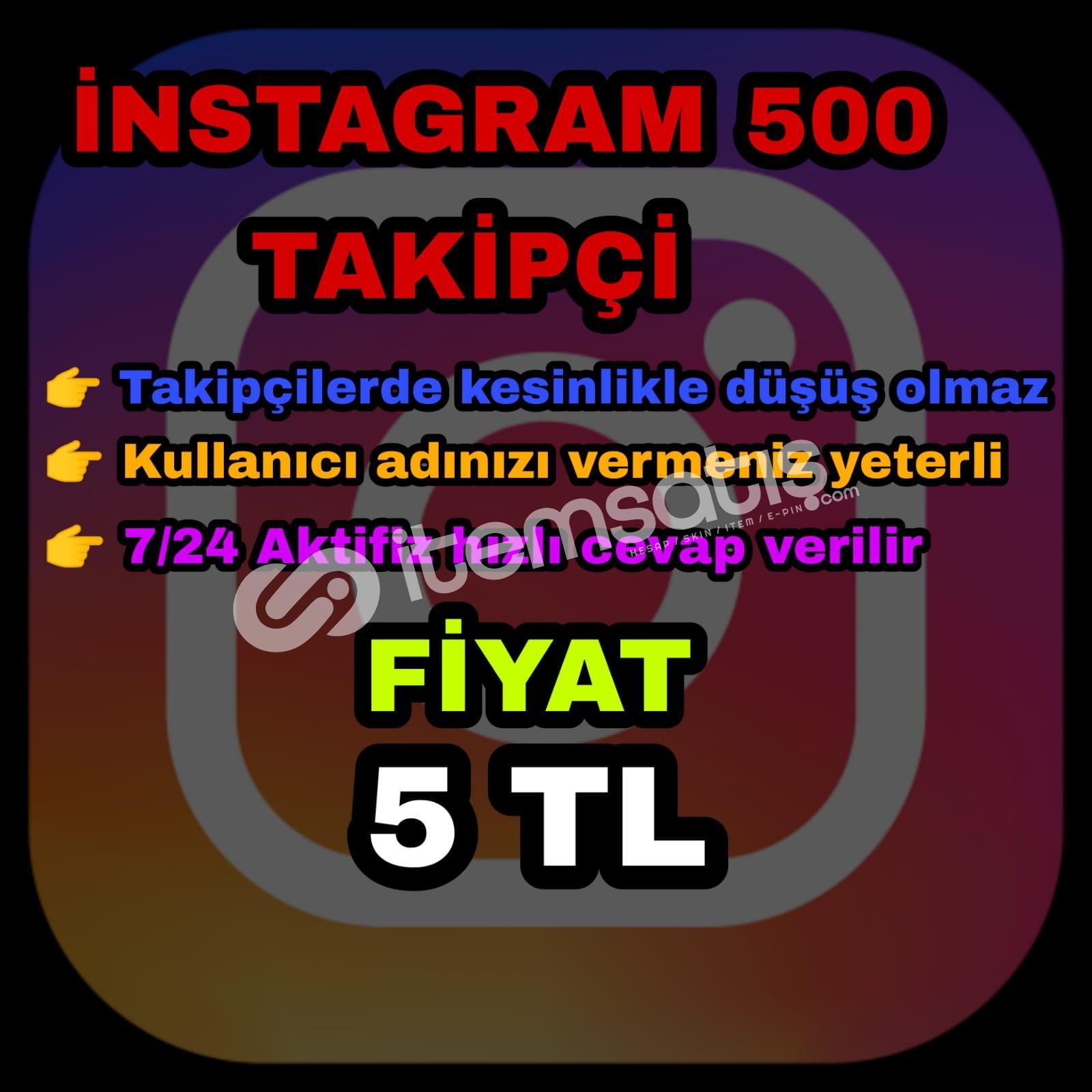 Instagram 500 takipçi