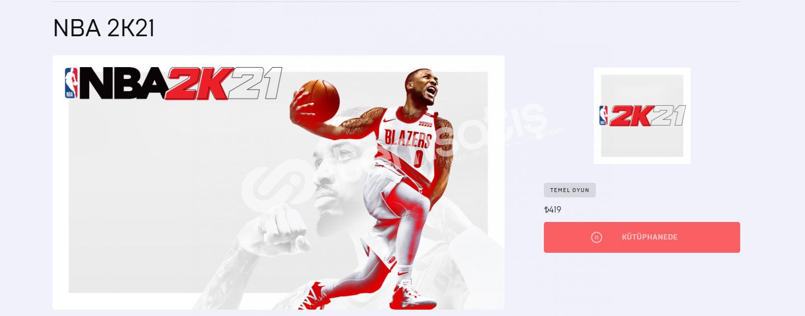 NBA 2K21 HESAP