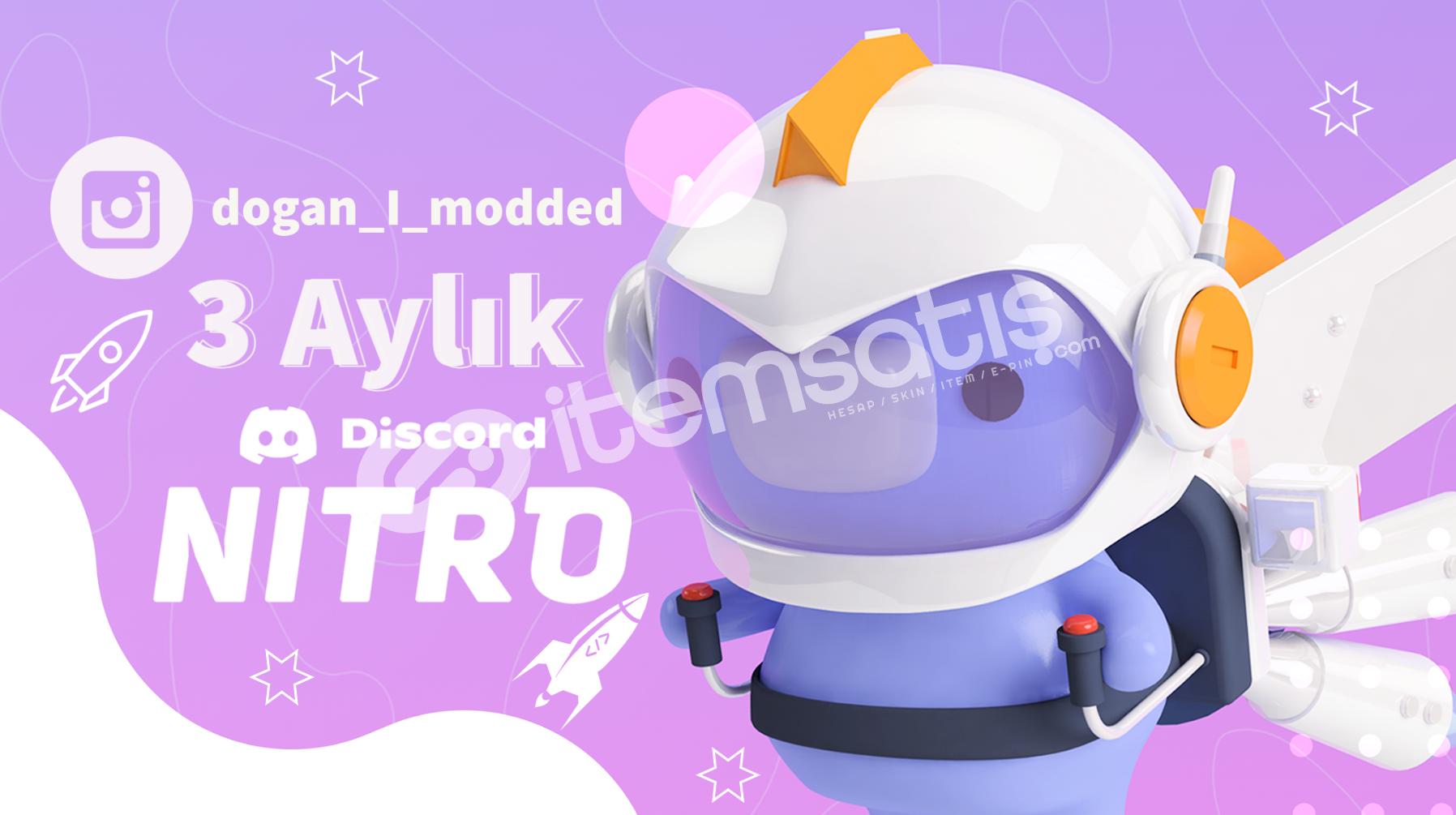 3 Aylık Discord Nitro 2021