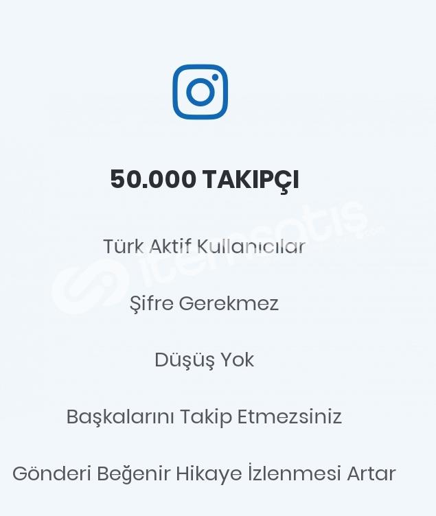 50.000 Gerçek Türk Takipçi