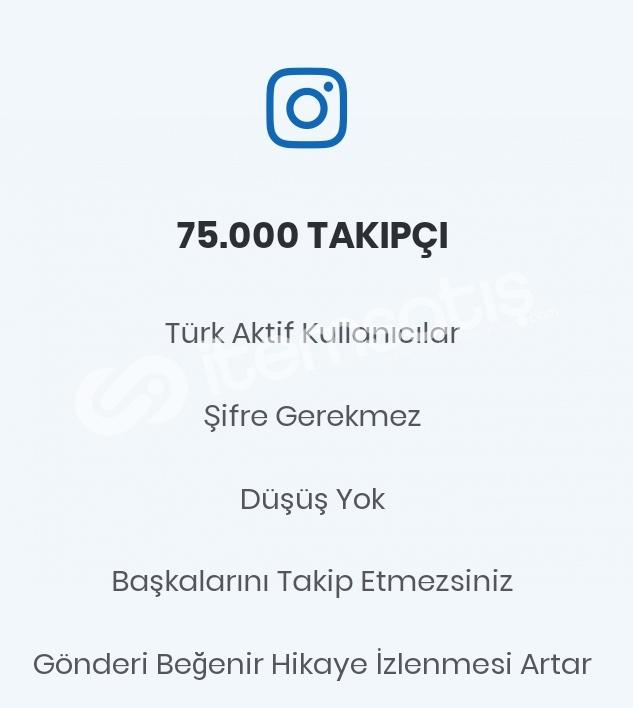 75.000 Gerçek Türk Takipçi