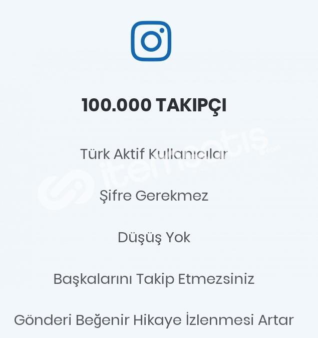100.000 Gerçek Türk Takipçi